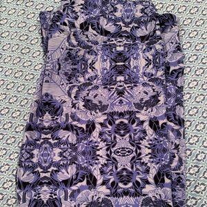 Lularoe purple/black kaleidoscope leggings - TC